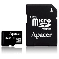 Apacer Micro Secure Digital High Capacity Memory Card Class 4 + SD Adapter (4GB / 8GB / 16GB / 32GB)