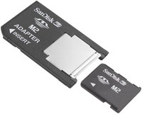 Silicon Power Memory Stick Micro Mark2 Card + Pro Duo Adapter (512MB / 1GB / 2GB / 4GB / 8GB / 16GB)